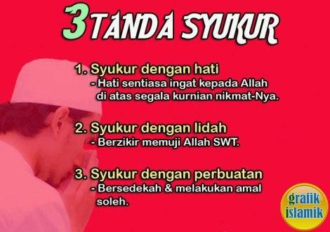 3 Tanda Bersyukur